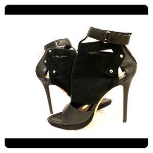 NIB Herve Leger open toe booties. Size 37.